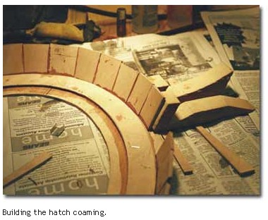 Building the hatch coaming.
